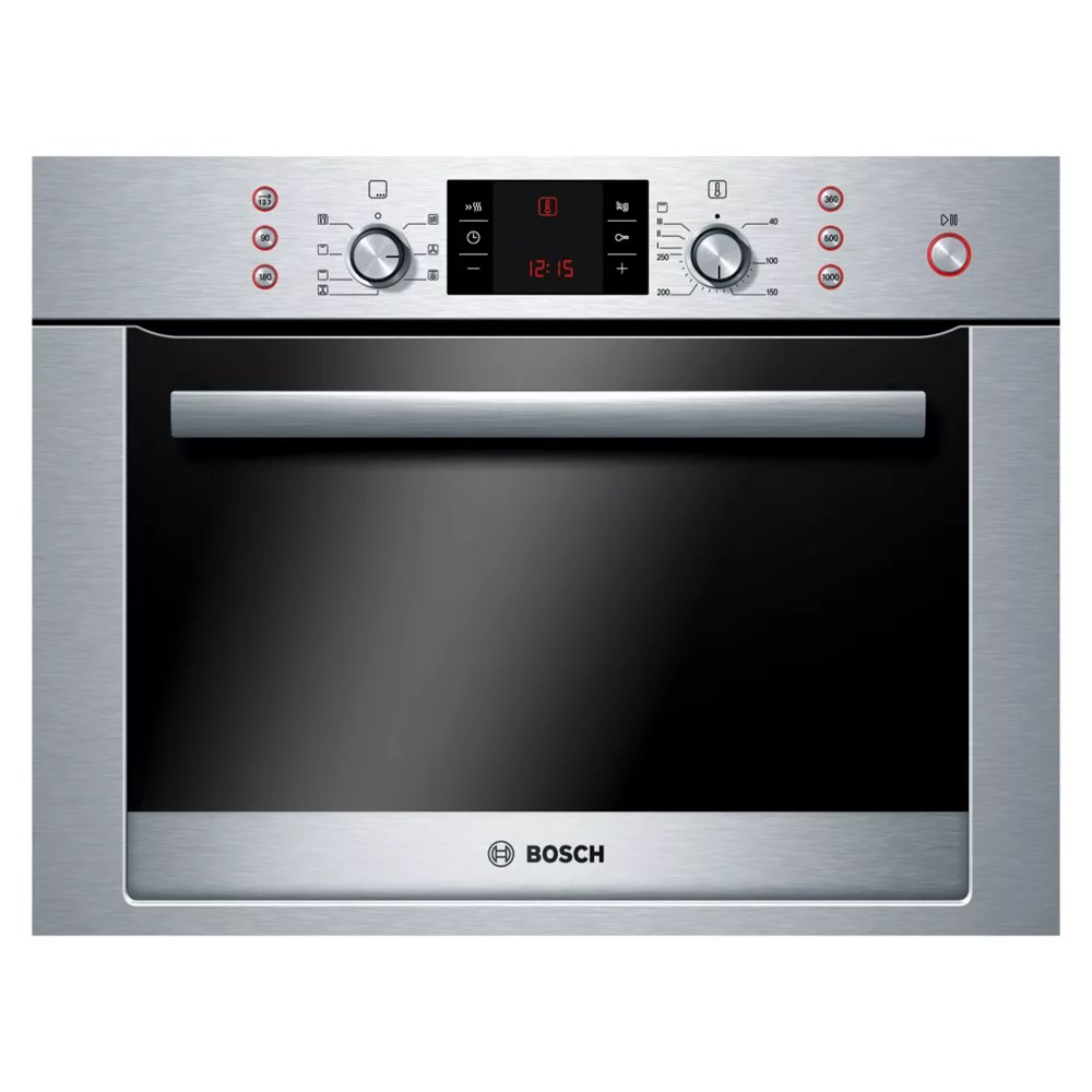 combination microwave brushed steel