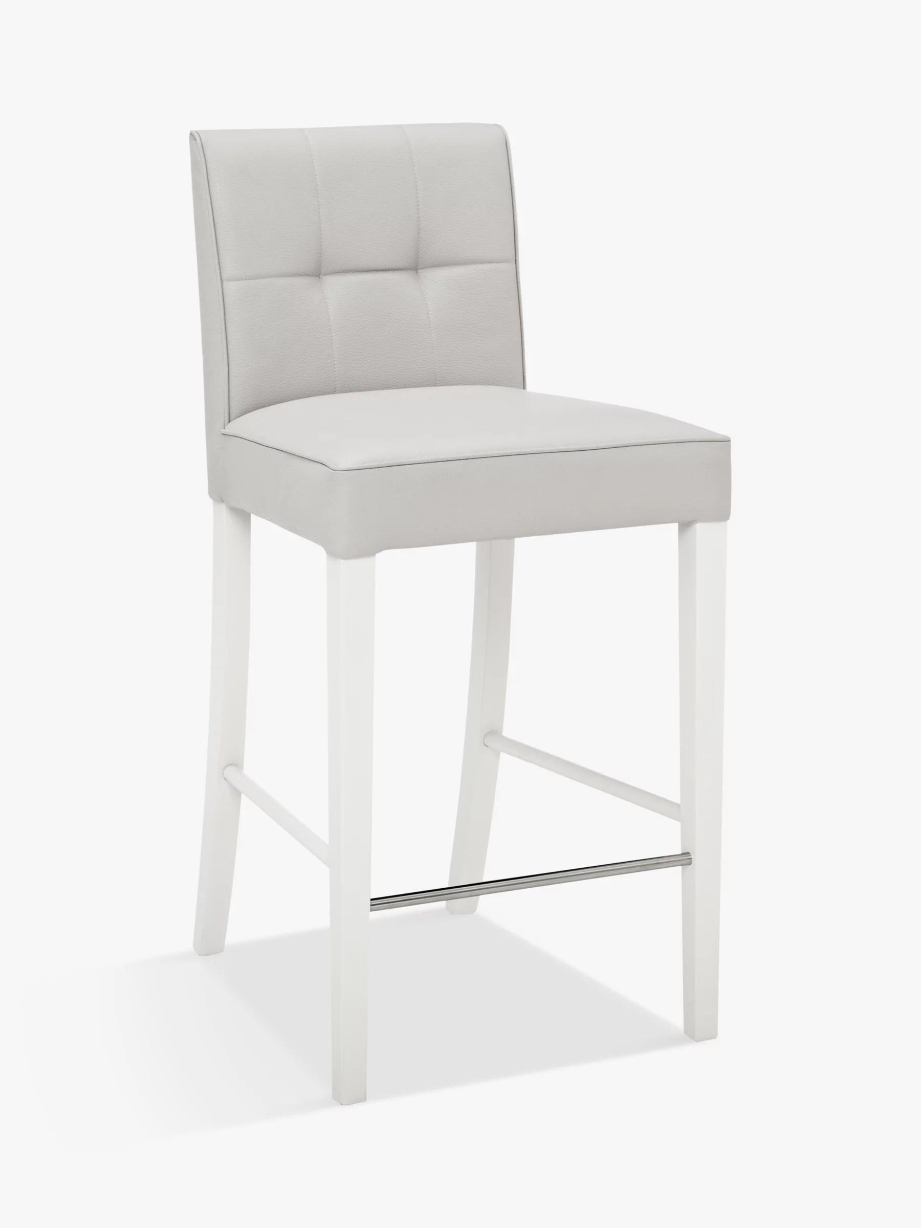 John Lewis Simone Faux Leather Bar Chair, Grey at John Lewis