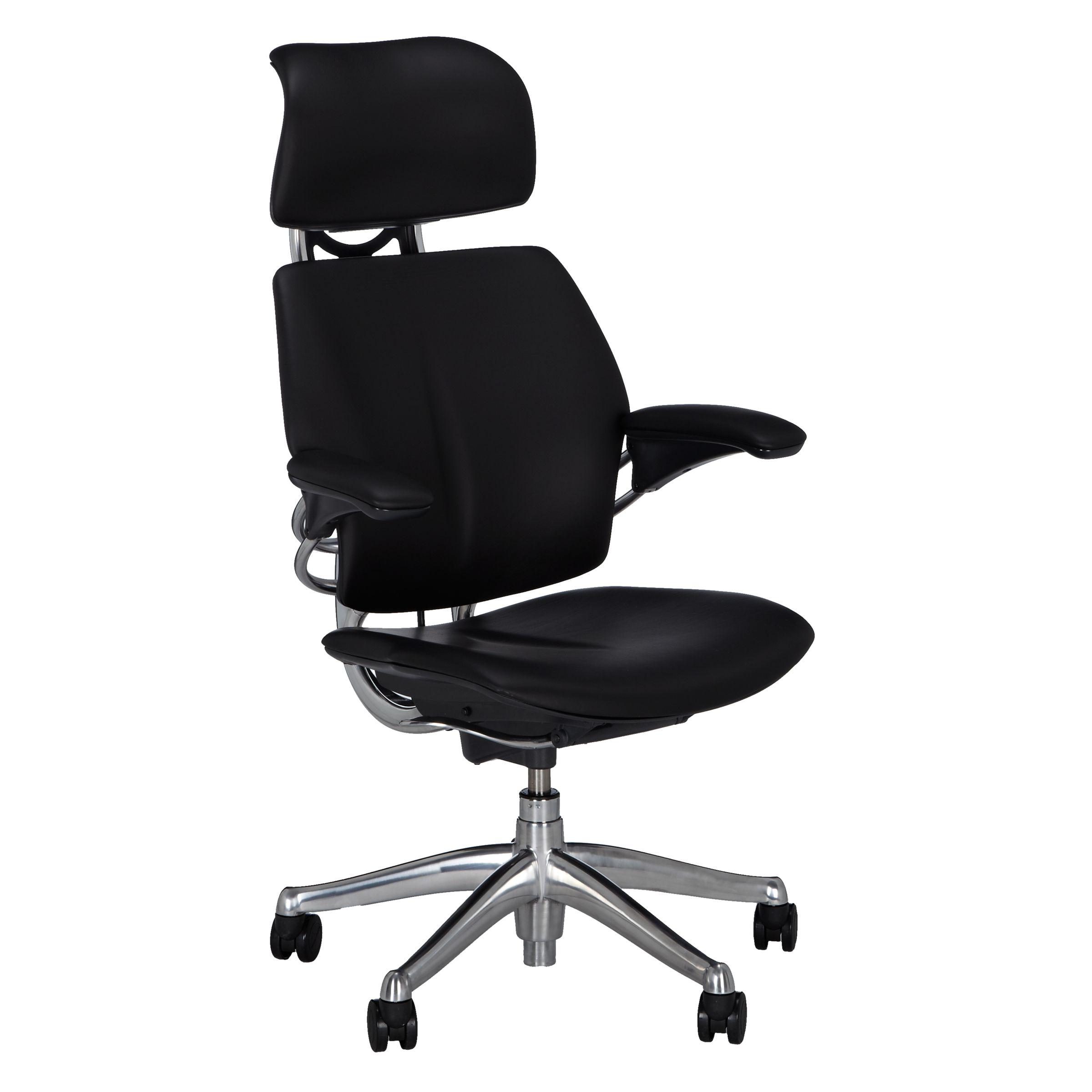 freedom task chair with headrest vanity back and arms humanscale office at john lewis partners buyhumanscale black online johnlewis com