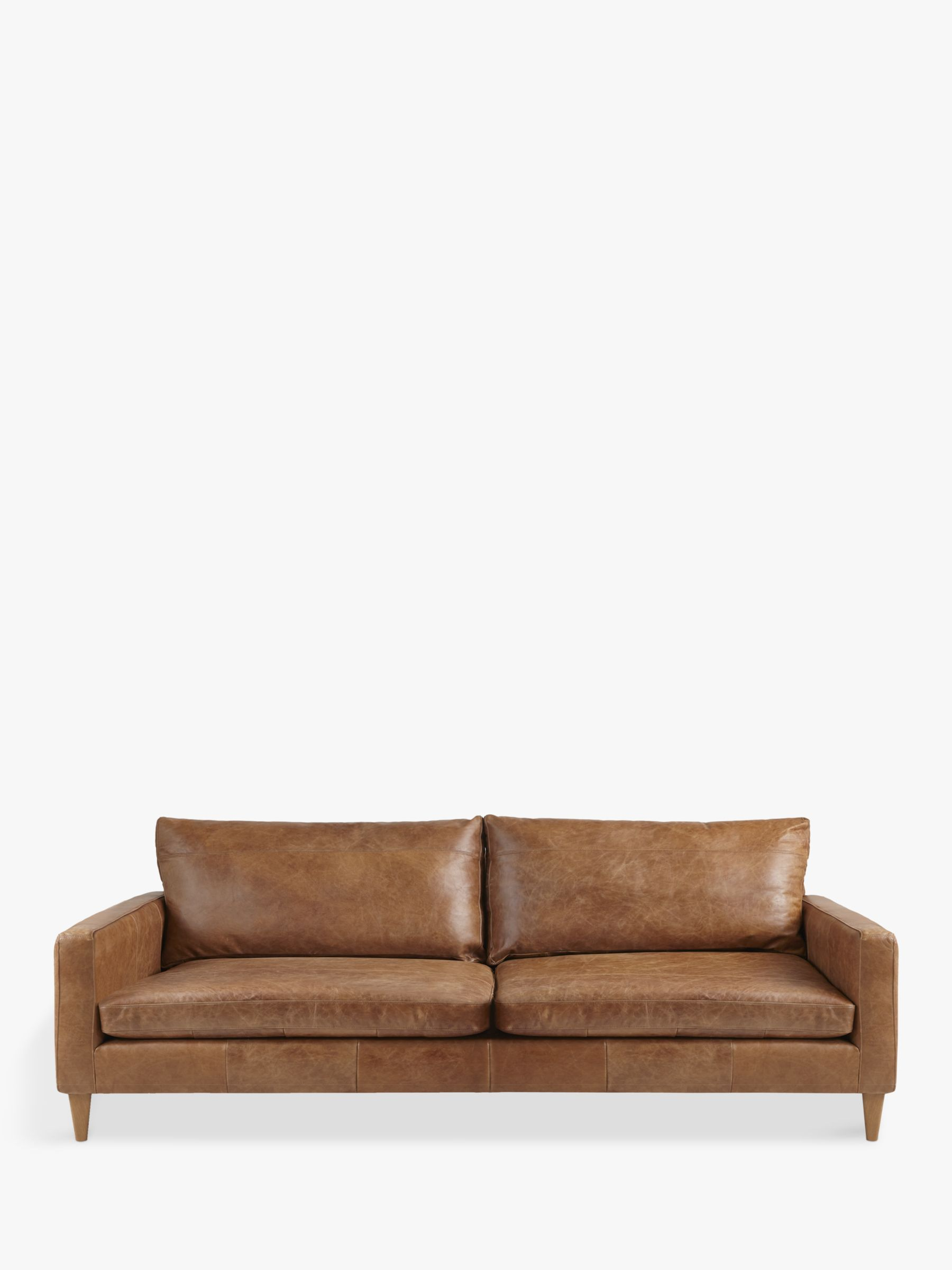 bailey leather sofa bed sectional sofas recliner chaise john lewis and partners grand 4 seater semi aniline