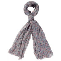 Buy Fat Face Busy Floral Print Scarf, Light Moss Online at