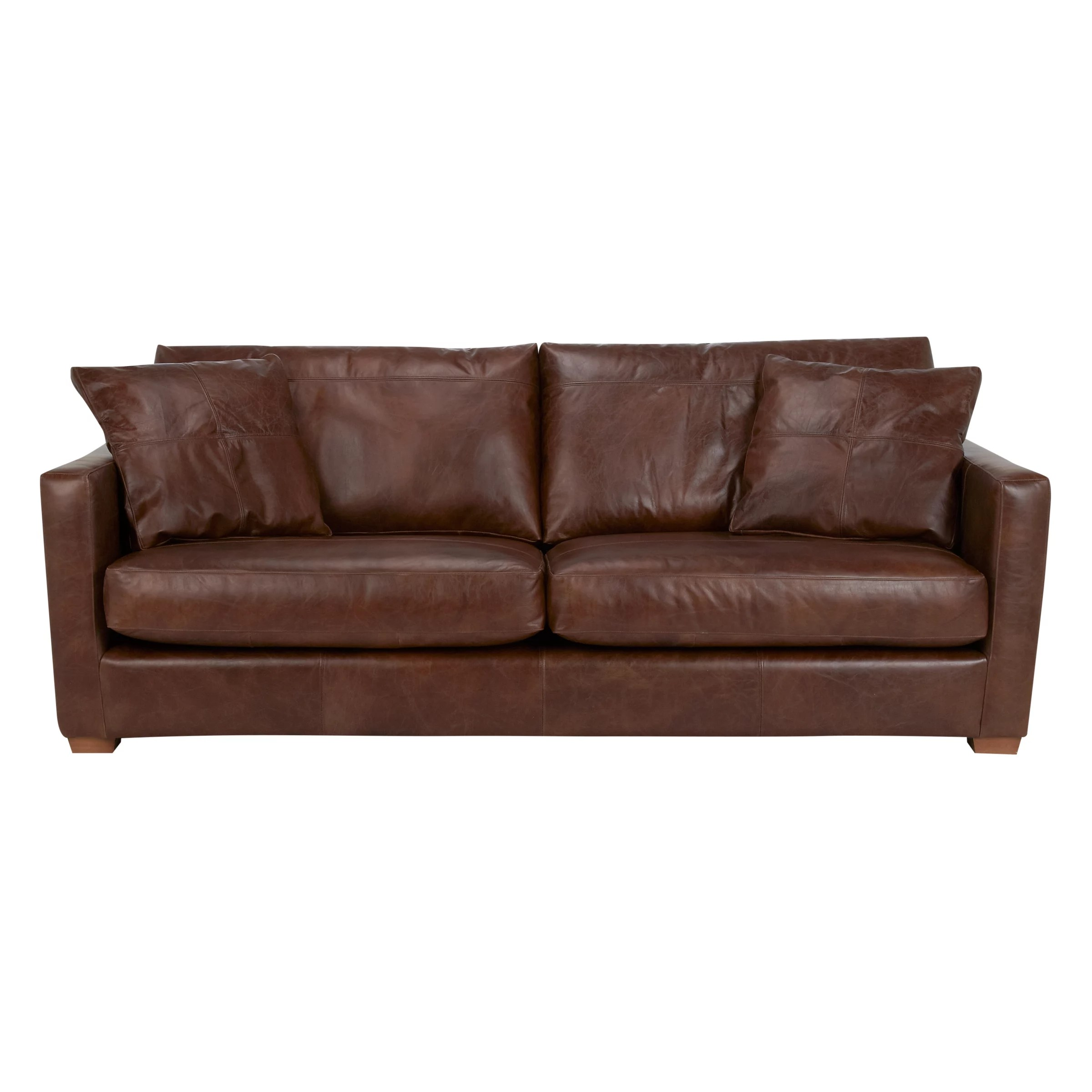 drummond grand leather sofa how tall should a side table be john lewis baxter antique cigar at