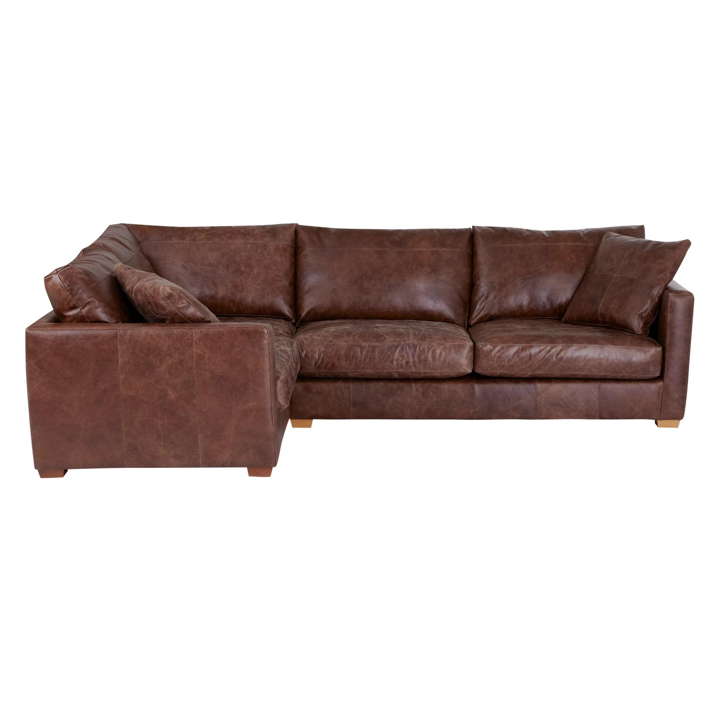 rialto sofa bed cigar nebraska furniture mart john lewis baxter lhf corner end leather bruno at buyjohn online johnlewis com