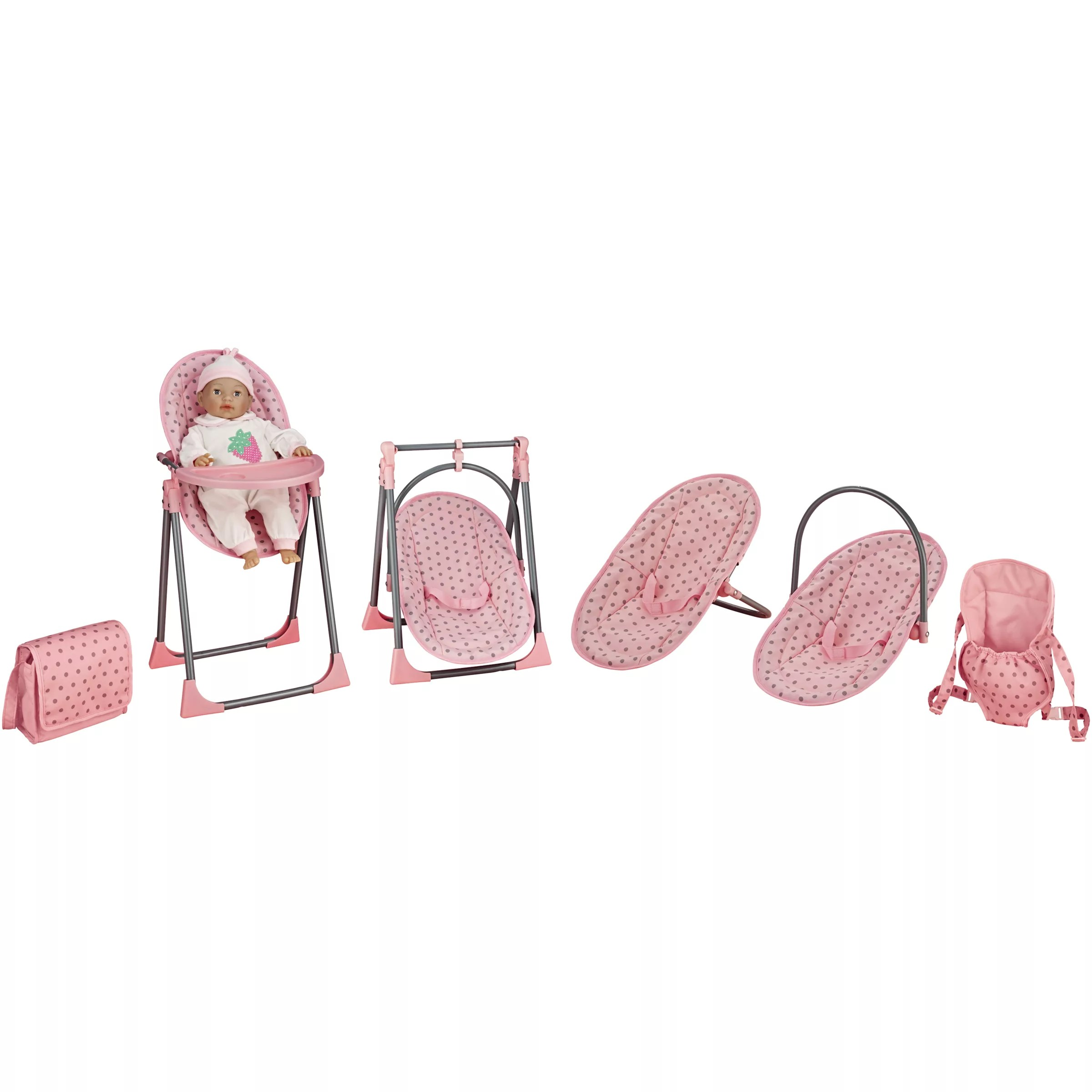 baby toy high chair set kmart beach chairs with canopy john lewis doll 4 in 1 highchair at partners buyjohn online johnlewis com