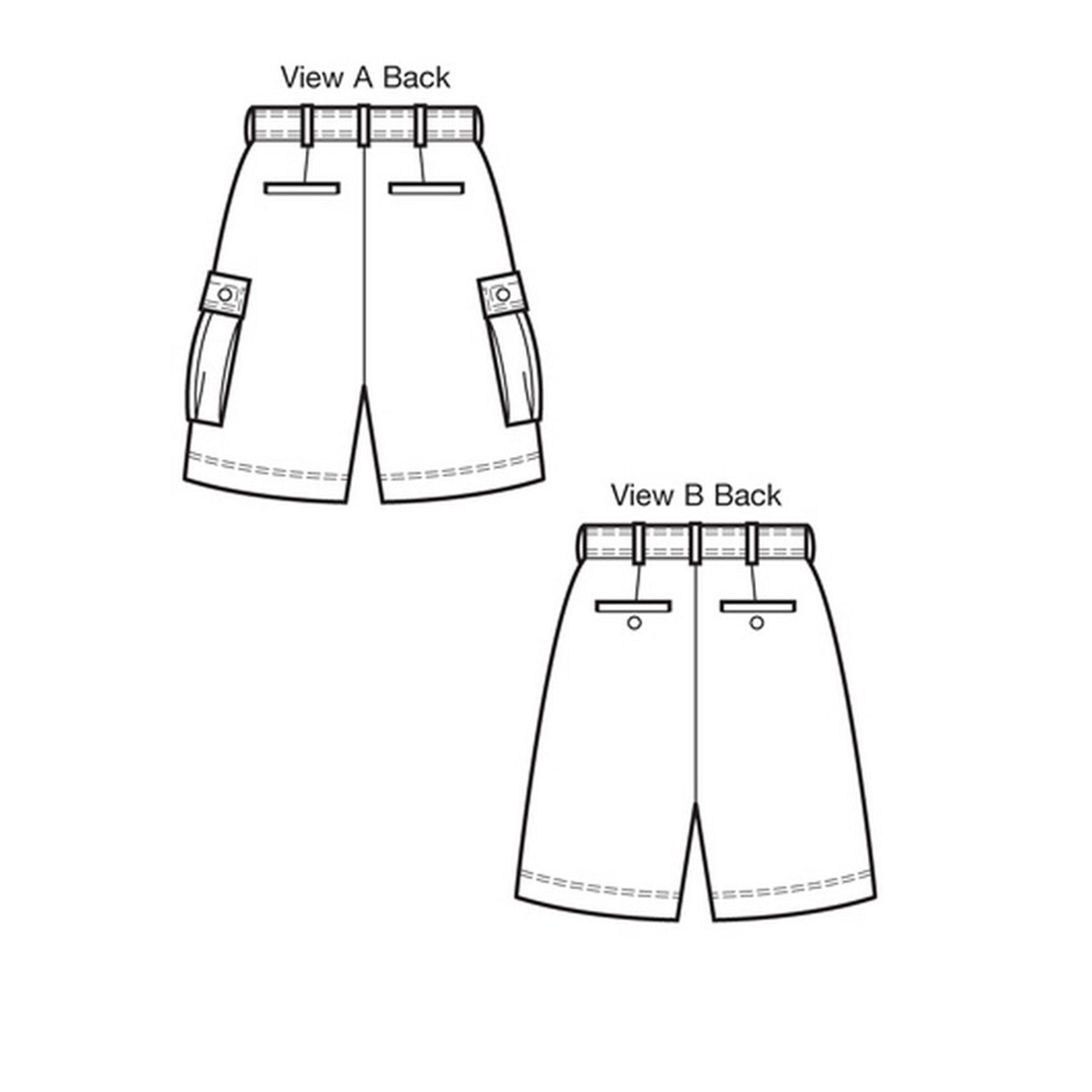 Mens Shorts Sewing Pattern : shorts, sewing, pattern, Men's, Shorts, Sewing, Pattern,, Lewis, Partners