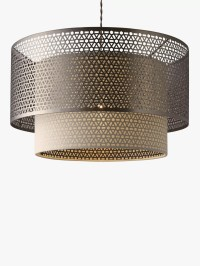 John Lewis Meena Fretwork Steel Pendant Light at John Lewis