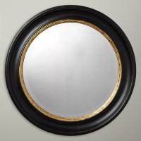 John Lewis Circle Wall Mirror, Dia.68cm, Black/Gold at ...