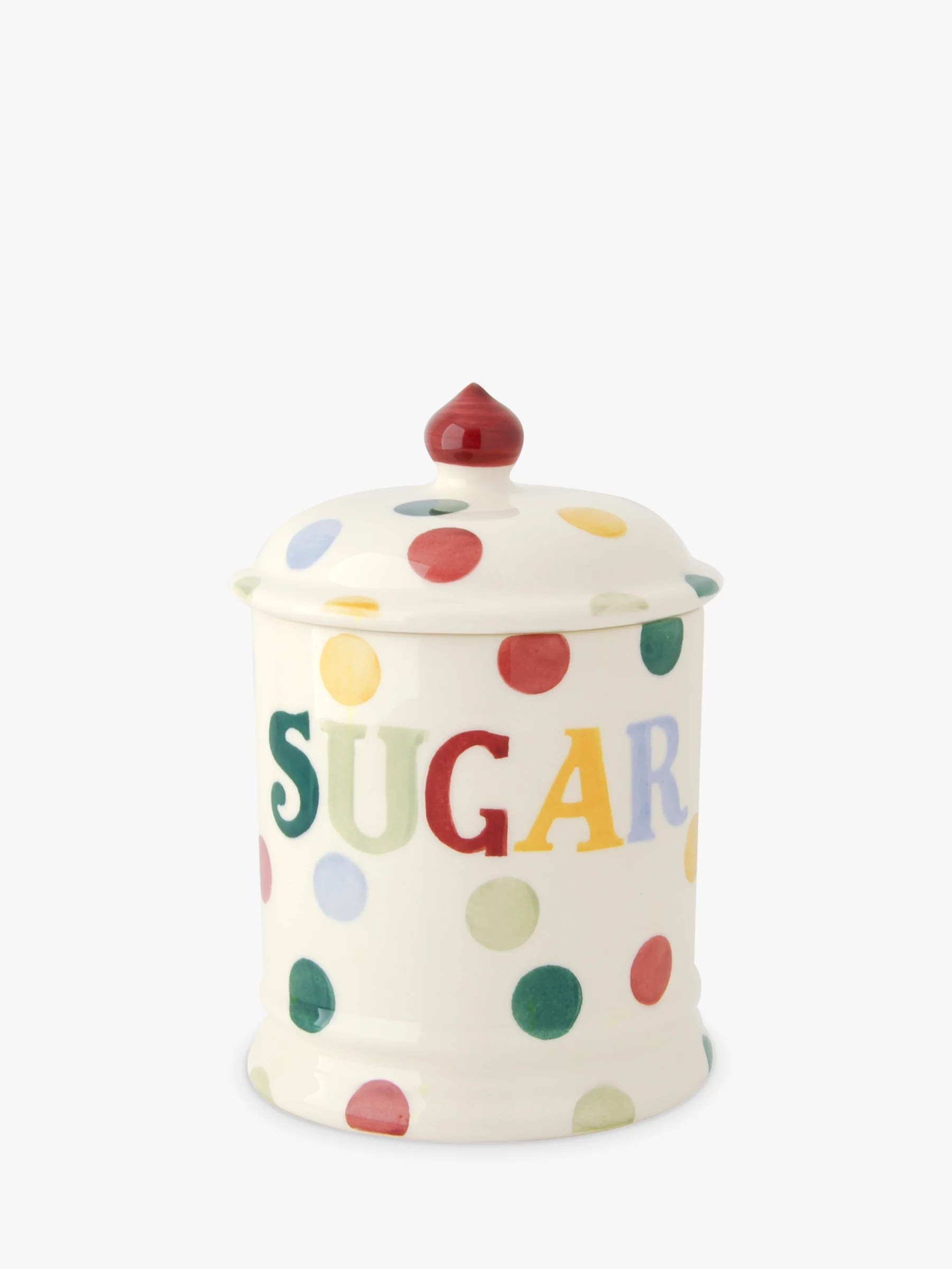Emma Bridgewater Polka Dot Text Sugar Storage Jar At John
