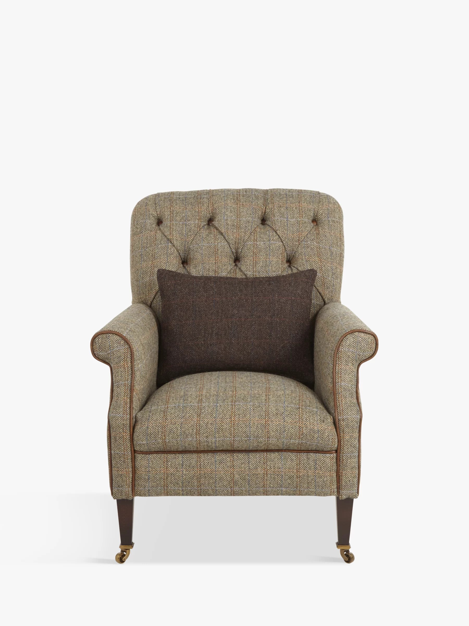 Occasional Chairs Fabric & Leather Slim Armchairs