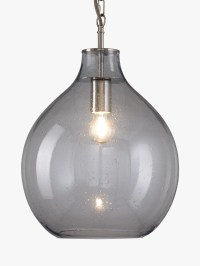 Croft Collection Selsey Glass Ceiling Pendant Light, Blue