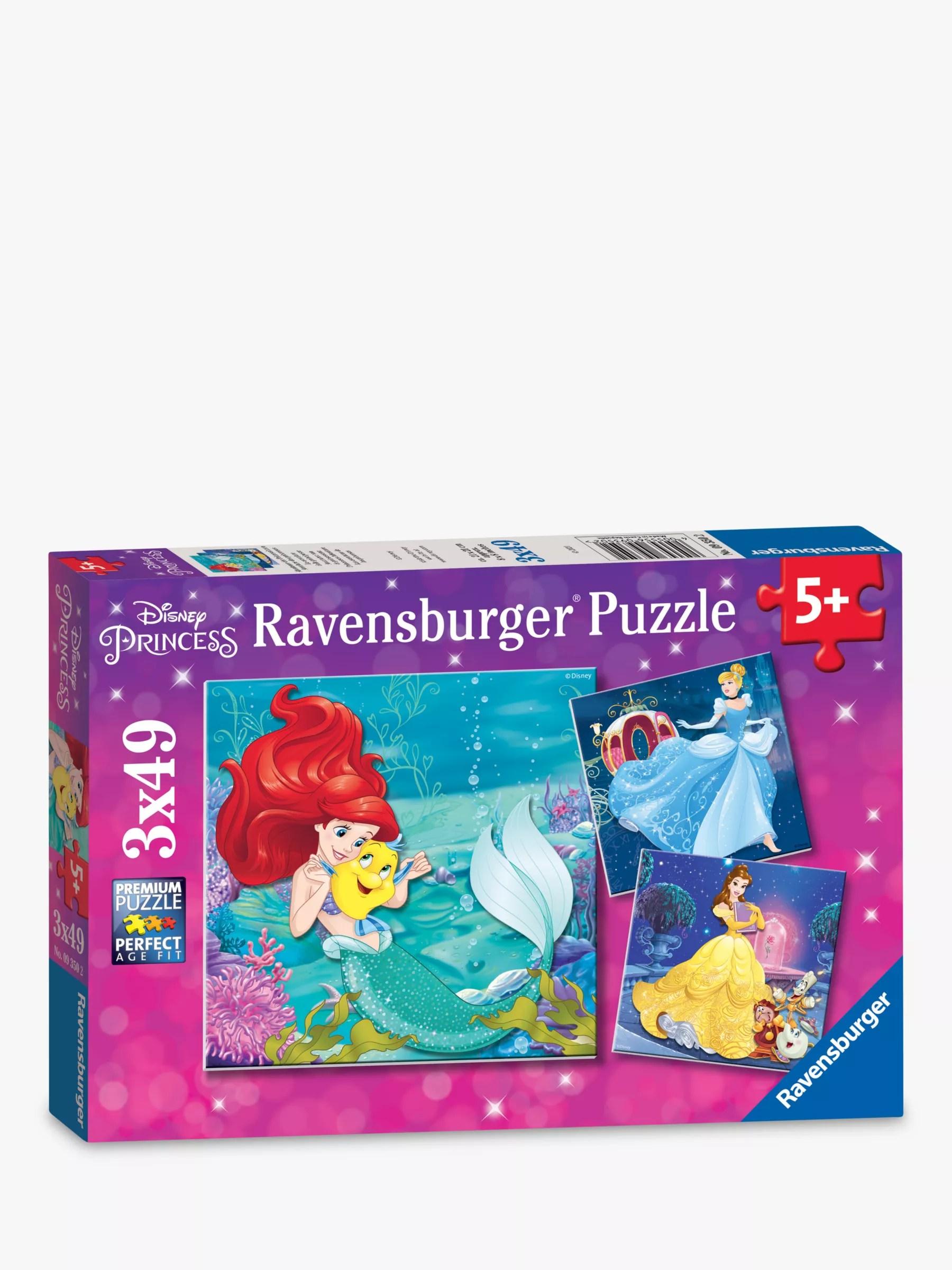 Ravensburger Disney Princess Jigsaw Puzzles Box Of 3