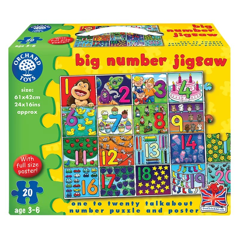 Buy Orchard Toys Big Number Jigsaw Game John Lewis