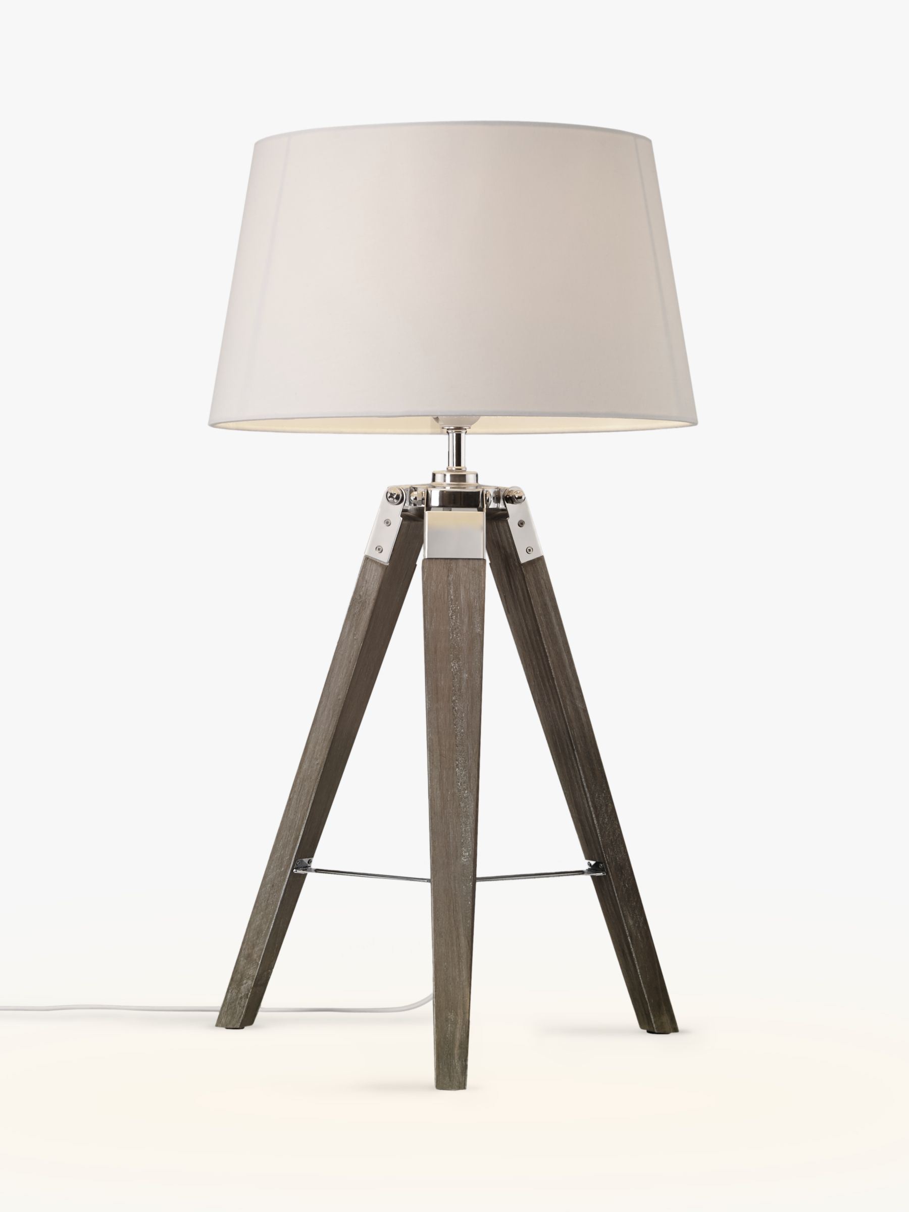 buy john lewis partners jacques tripod table lamp grey online at johnlewis  [ 1440 x 1920 Pixel ]