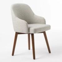 Buy west elm Saddle Dining Chair, Crosshatch Steel | John ...