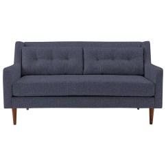 West Elm Crosby Chair Bright Starts High 2 Seater Sofa Aegean Blue At John Lewis
