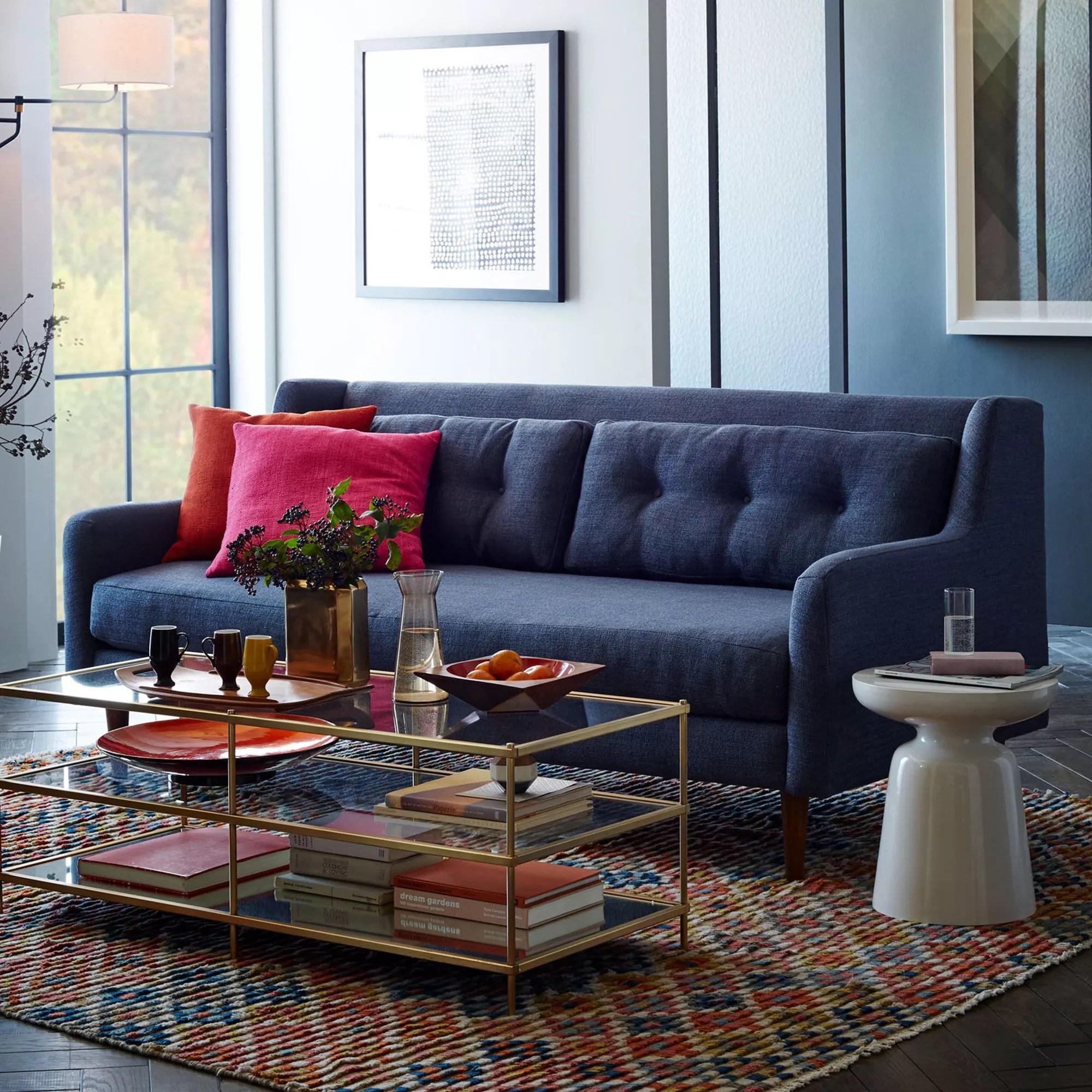 west elm crosby chair la z boy lift hand control 3 seater sofa aegean blue at john lewis