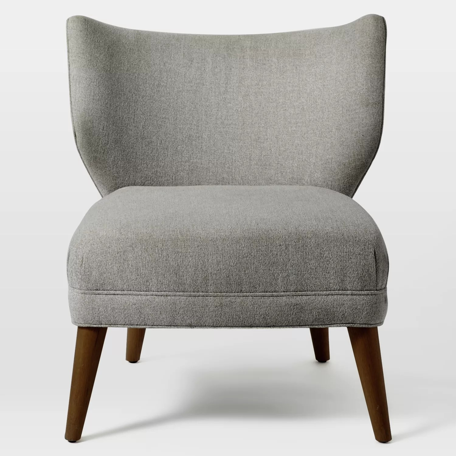Retro Wing Chair West Elm Retro Wing Chair Retro Weave Grey At John Lewis