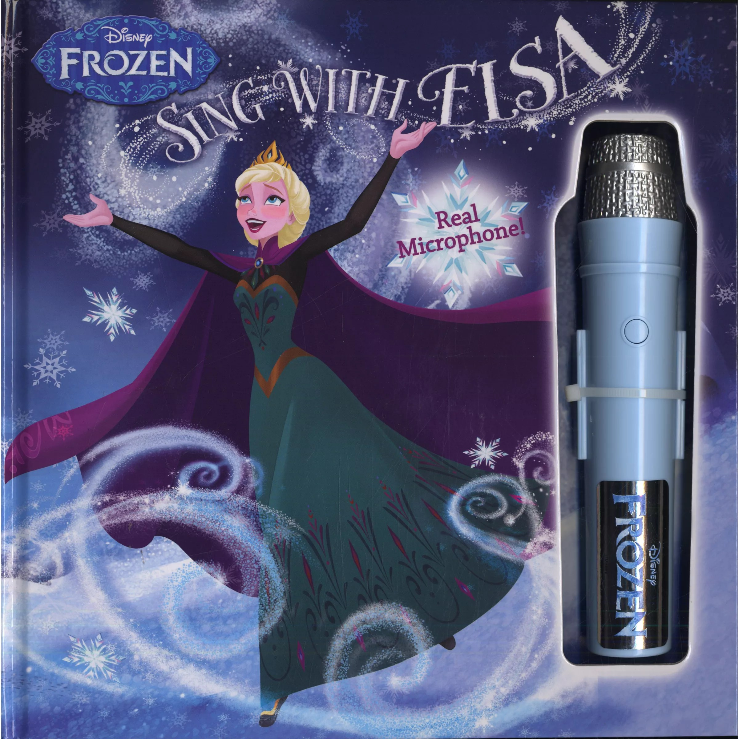 frozen flip sofa canada chocolate leather decorating ideas disney sing with elsa book microphone at john lewis buydisney online johnlewis com