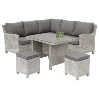 KETTLER Palma 6 Seater Garden Mini Corner Table and Chairs ...