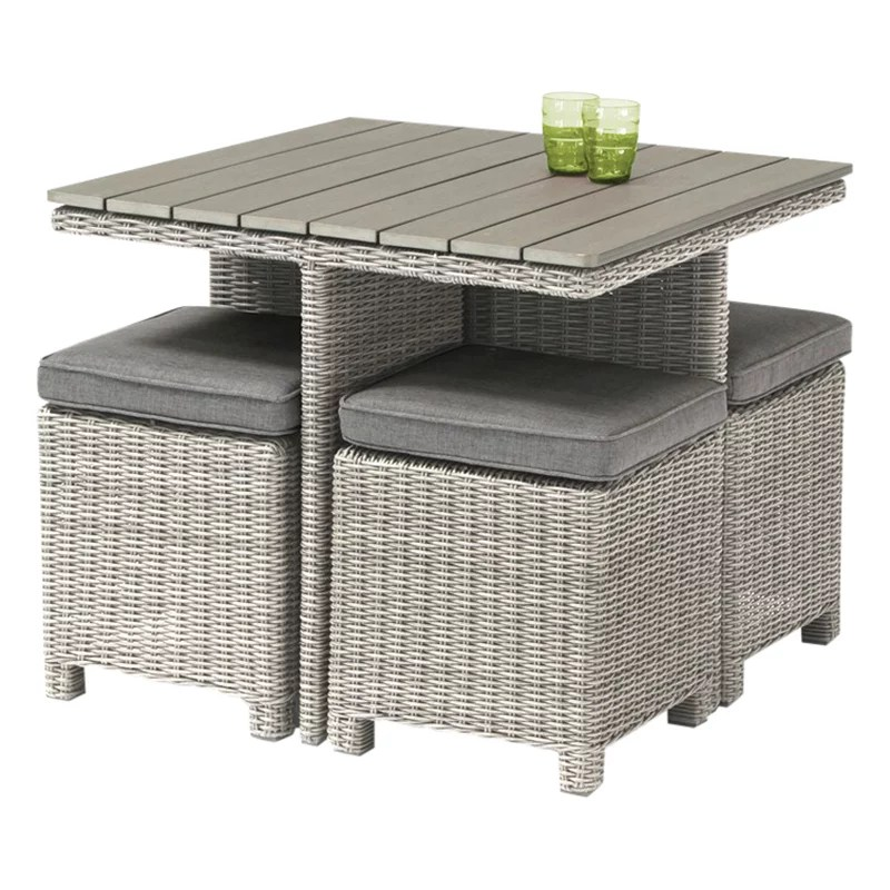 4 seater outdoor table and chairs diy dining kettler palma garden cube set at