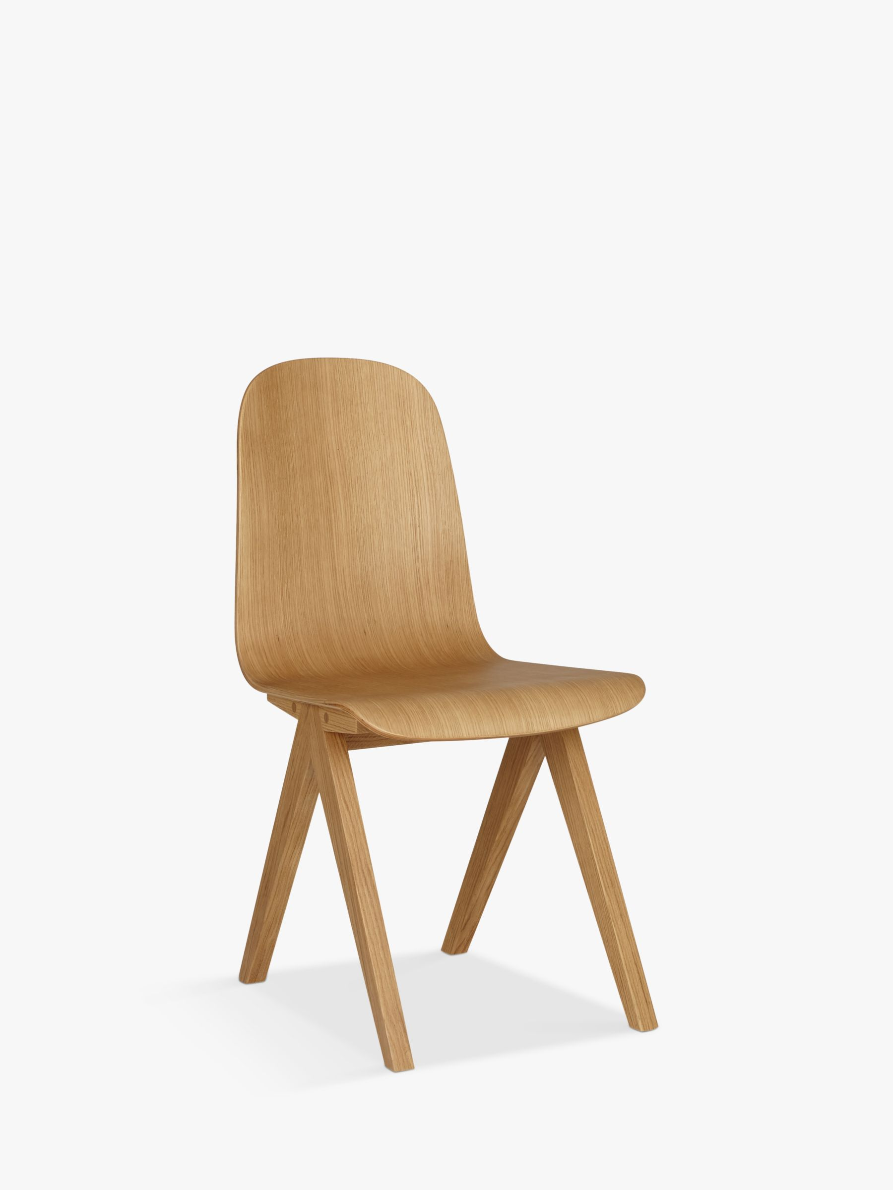 gray kitchen chairs refrigerator bethan for john lewis newman plywood dining chair oak at buybethan online johnlewis com