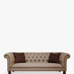 Blue Sofa White Piping Microfiber Sectional Sofas With Chaise Chesterfield 2 Seater Sy Grey