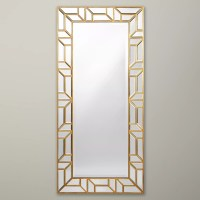 Buy John Lewis Verbier Full Length Wall Mirror, Gold ...