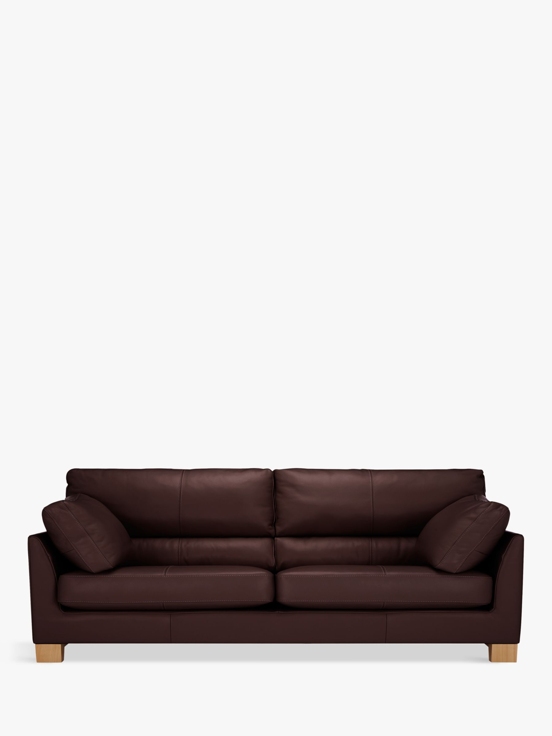 sacha large leather sofa bed madras chocolate is it worth reupholstering a uk john lewis