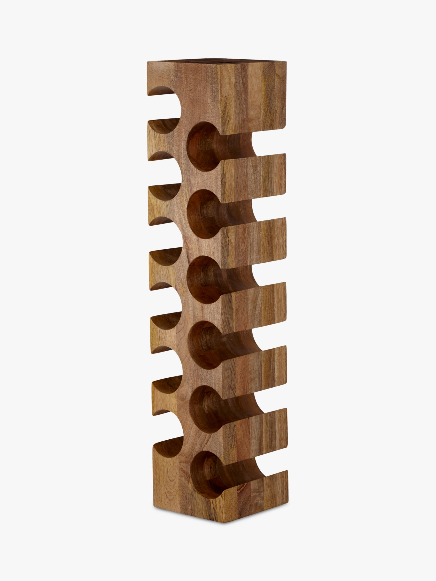 can you put a wine rack in living room stairs ideas john lewis partners 12 bottle mango wood at buyjohn online johnlewis
