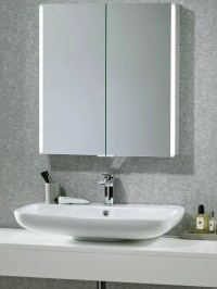 Saturn Led Illuminated Bathroom Mirror Cabinet ...
