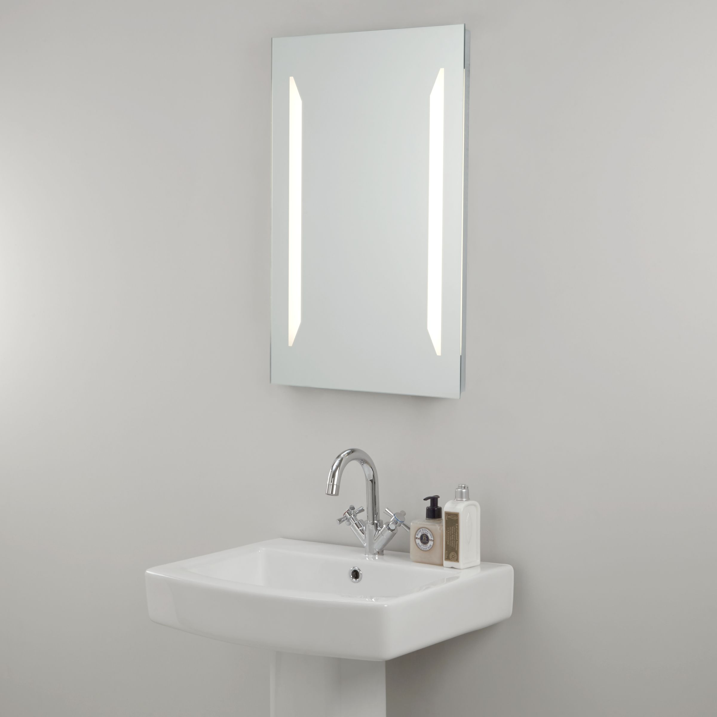 Illuminated Bathroom Mirror John Lewis Partners Led Frost Illuminated Bathroom Mirror At