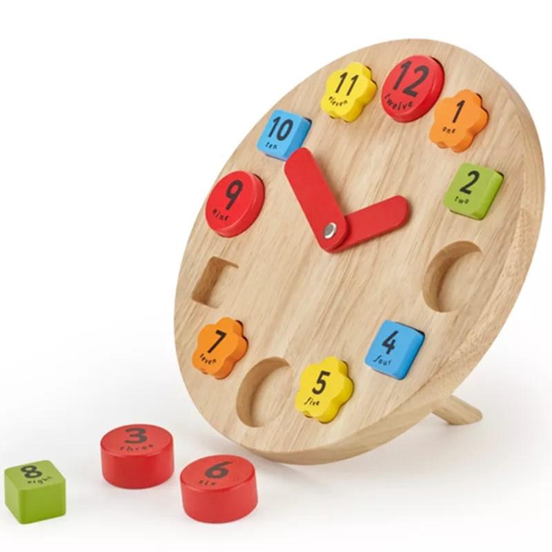 Buy John Lewis Wooden Teaching Clock Toy John Lewis