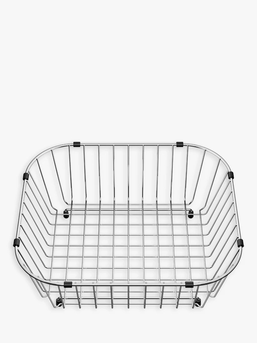 kitchen drainer basket flat door cabinets blanco sinks john lewis partners median sink stainless steel