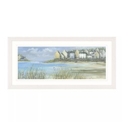 Framed Wall Pictures For Living Room Ireland Best Furniture Small Buy Diane Demirci - Coastal Town Panel Print, 107 X ...