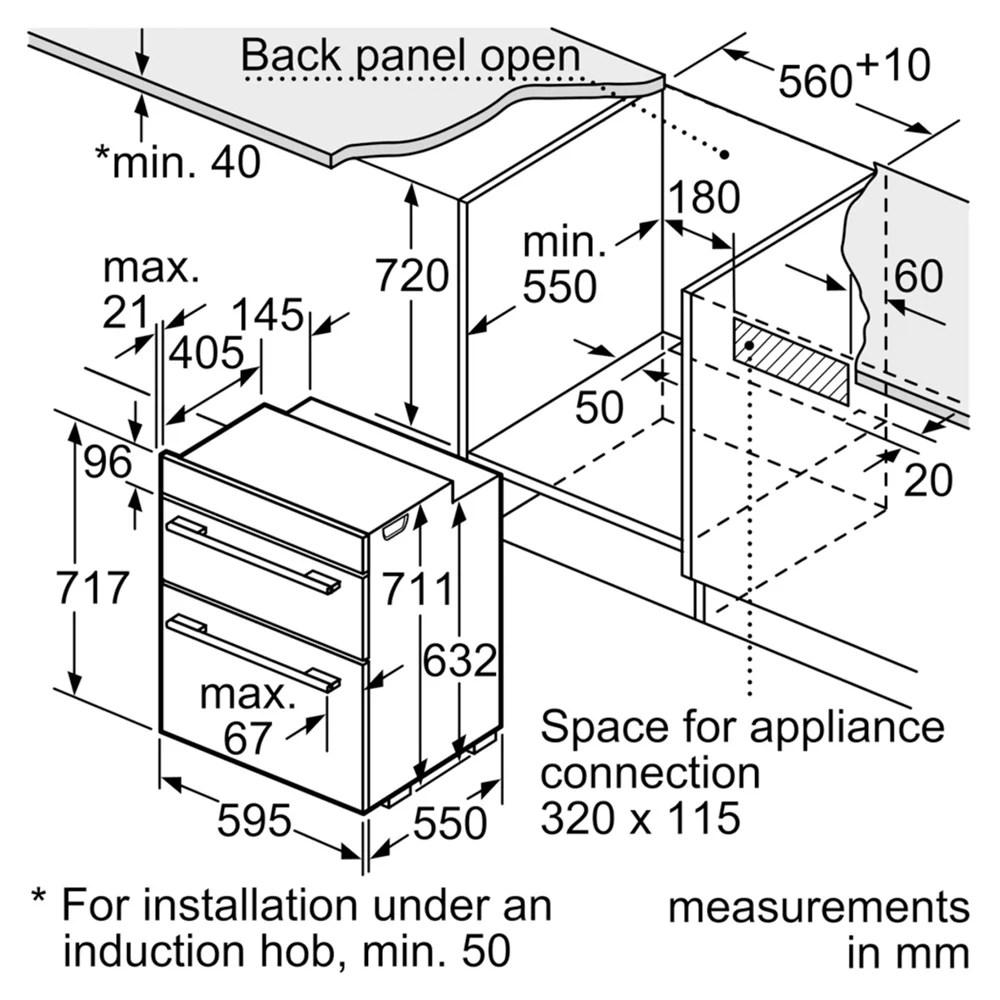 medium resolution of buybosch hbn43b260b built under multifunction double oven black online at johnlewis