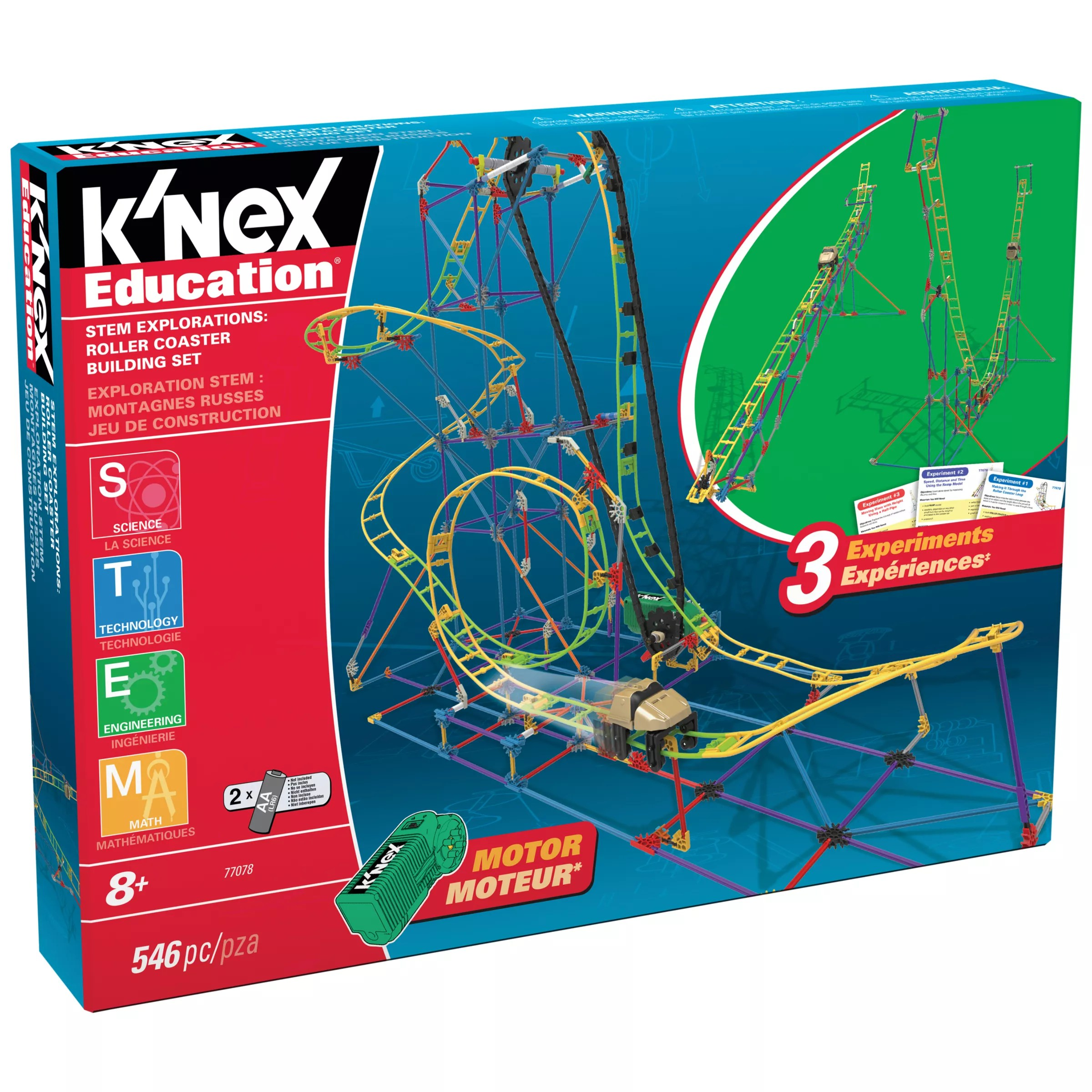 'nex Education Stem Explorations Roller Coaster Building