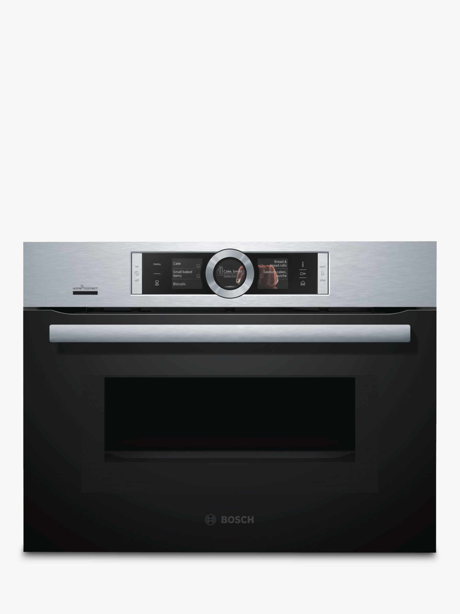 hight resolution of buy bosch cng6764s6b built in multifunction microwave oven brushed steel online at johnlewis