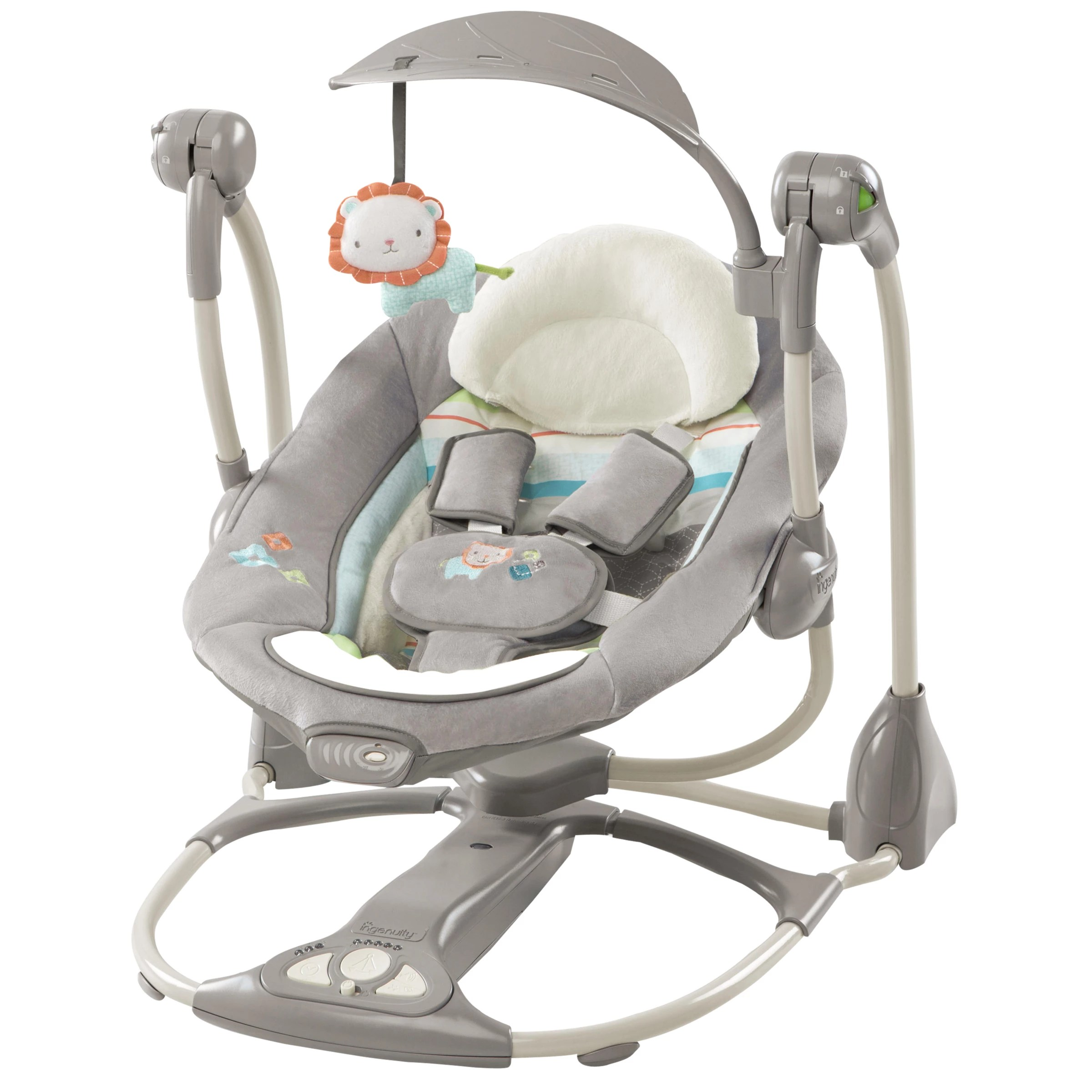 baby swing vibrating chair combo leather sale bouncer rockers swings john lewis partners ingenuity candler convertme 2 seat