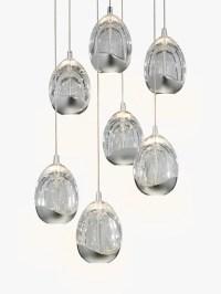 John Lewis Droplet LED Pendant Ceiling Light, 7 Light ...