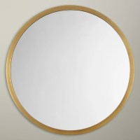 John Lewis Small Round Mirror, Dia.46cm at John Lewis