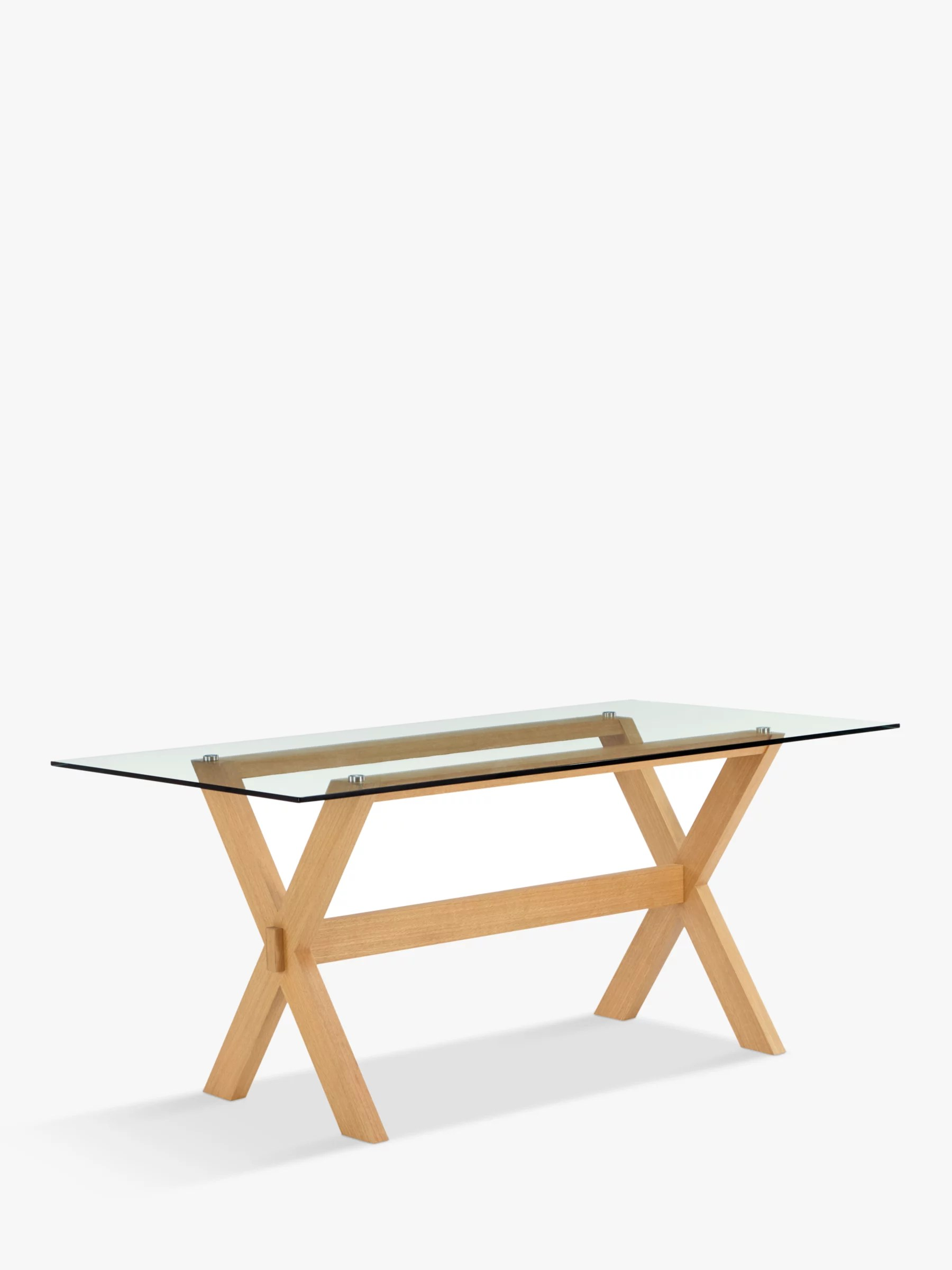 glass top kitchen table value city tables john lewis partners lydia 8 seater dining at buyjohn online johnlewis