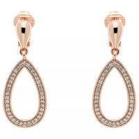Buy Finesse Cubic Zirconia Open Teardrop Clip On Earrings ...