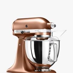 Copper Kitchen Aid Mixer Dicer Slicer Kitchenaid 175 Artisan 4 8l Stand At John Lewis