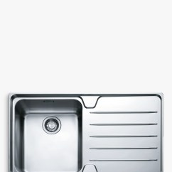 Franke Kitchen Sinks Faucet Replacement Laser Lsx 611 Inset Sink With Right Hand Bowl Buyfranke Stainless Steel Online At
