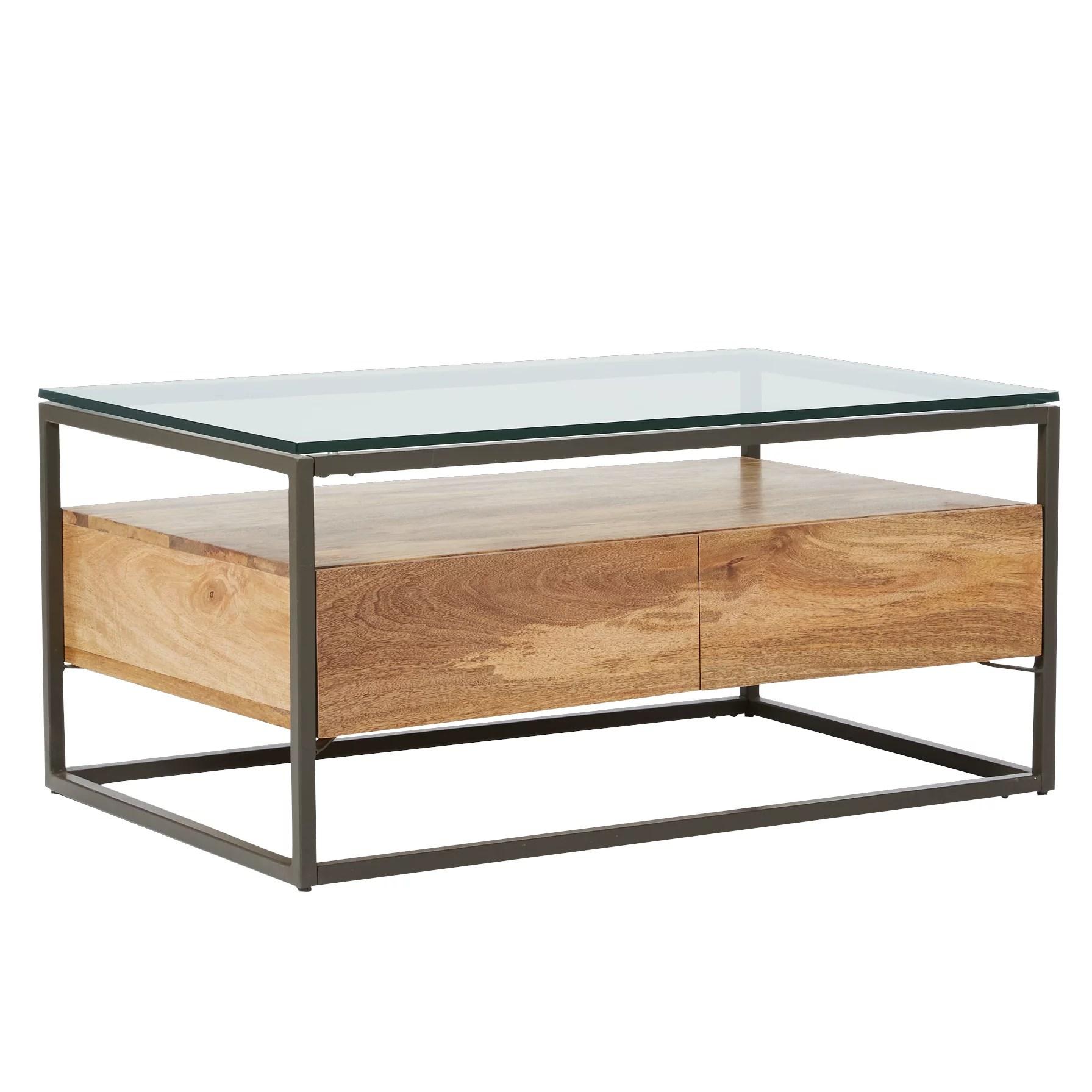 west elm industrial storage box frame coffee table