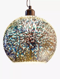 John Lewis Oberon Holographic Pendant Ceiling Light, Multi