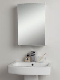 Buy John Lewis Single White Gloss Bathroom Cabinet | John ...