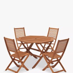 4 Seater Outdoor Table And Chairs Rolling Desk Chair Mat John Lewis Venice Garden Set Fsc