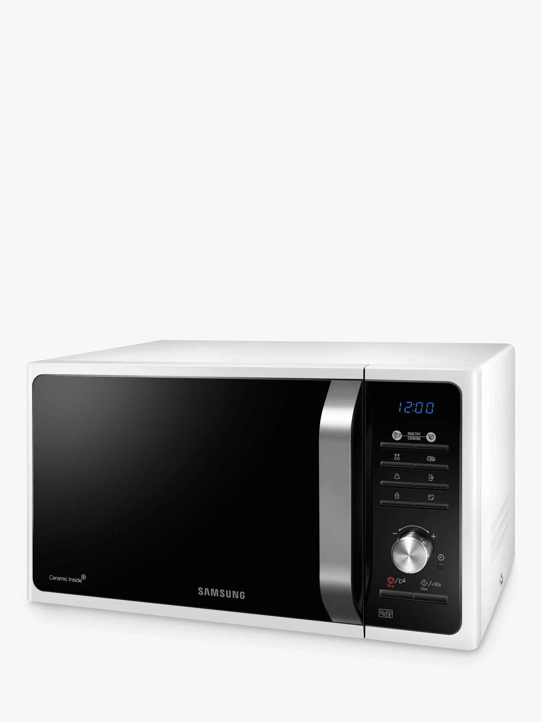 samsung ms23f301taw solo microwave oven white