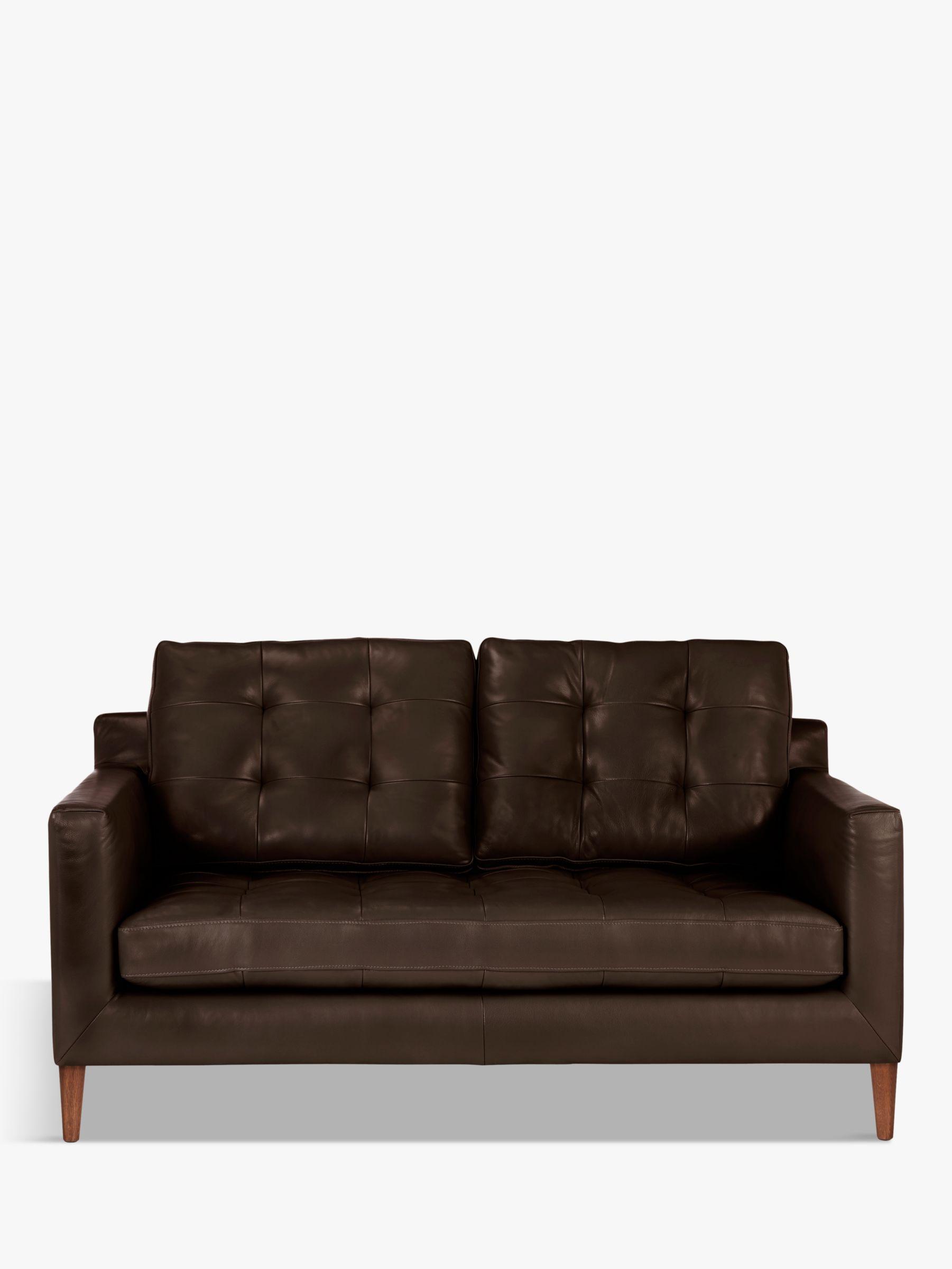 brown leather sofa on legs silver velvet towie john lewis partners draper 2 seater dark leg at buyjohn nature online